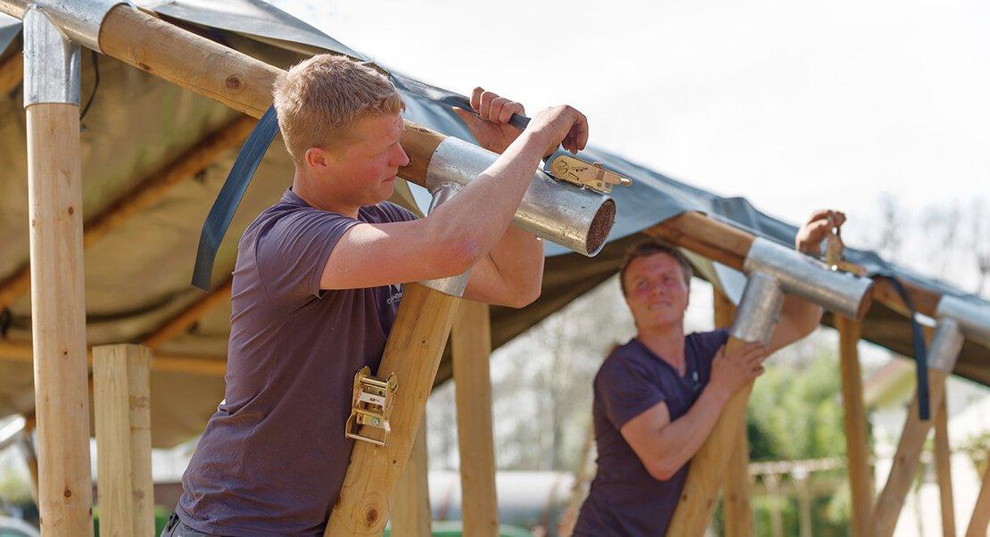 Glamping tent opbouwen
