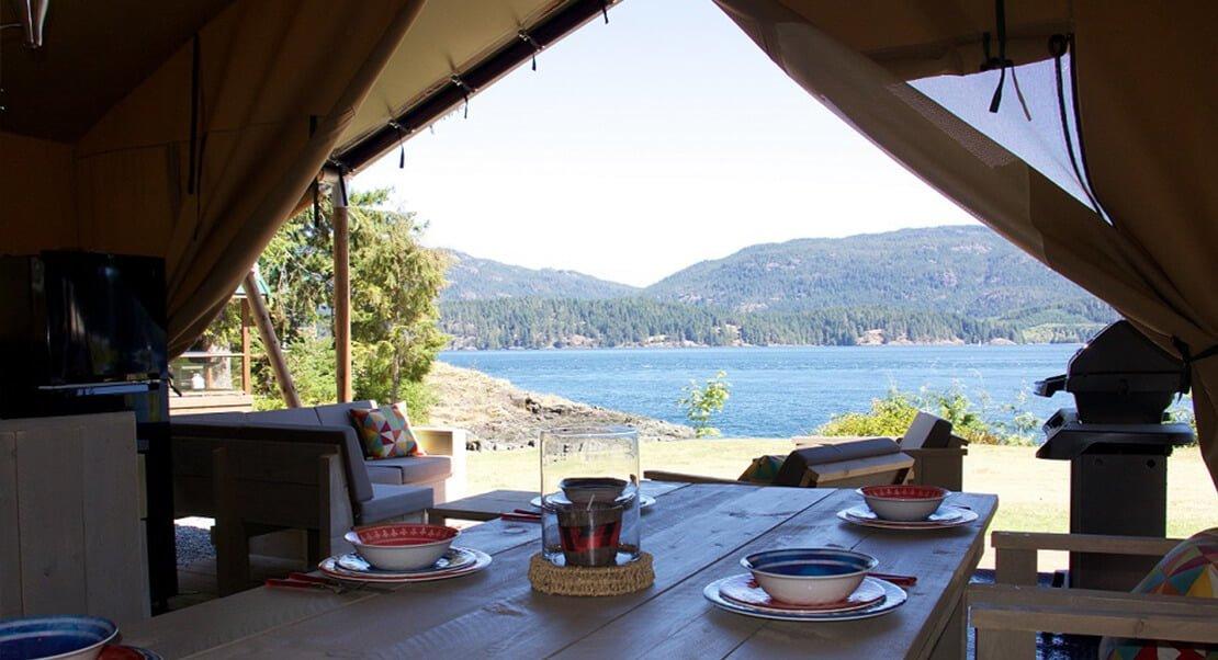 safaritent luxe kamperen