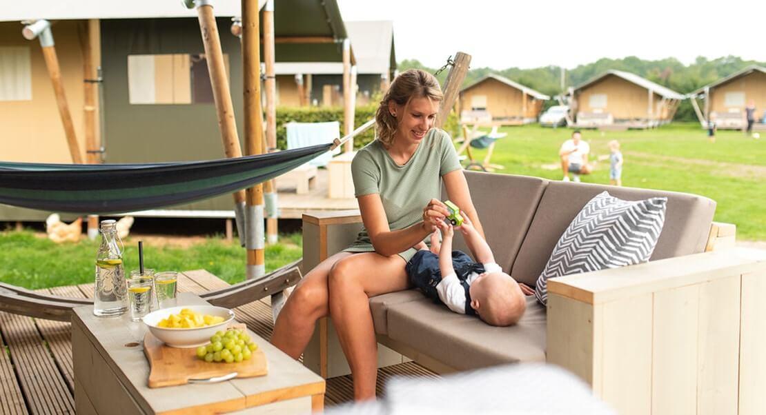 grote loge luxe kamperen